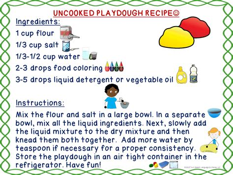 printable playdough recipes speechie freebies free playdough recipes for use with