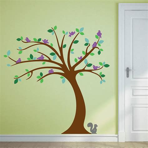 trees wall stickers children s tree wall stickers set by oakdene designs notonthehighstreet
