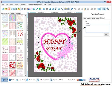 printable birthday cards maker birthday cards maker software screenshots to design