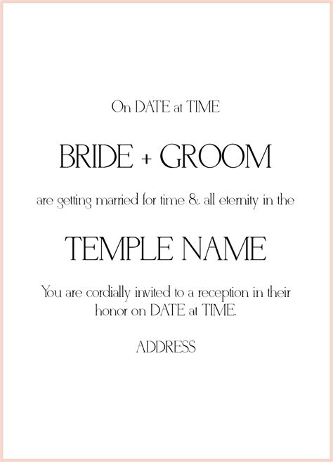 Wedding Invitations Lds by 8 Lds Wedding Invitation Wording Sles Lds Wedding