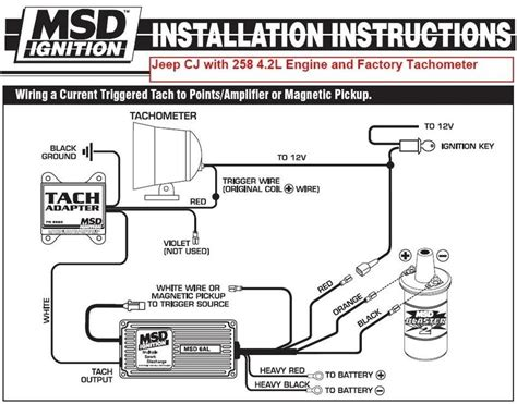 msd ignition 6al 6420 wiring diagram wiring diagram and