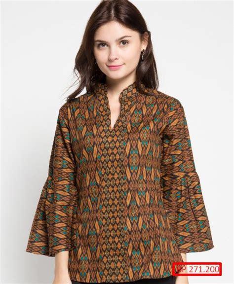 Baju Atasan Wanita Lyla Tieshort Murah Dan Kekinian 100 gambar kemeja batik wanita lengan panjang dengan model kemeja terbaru batik wanita lengan