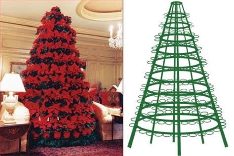 poinsettia tree stand christmas fun pinterest