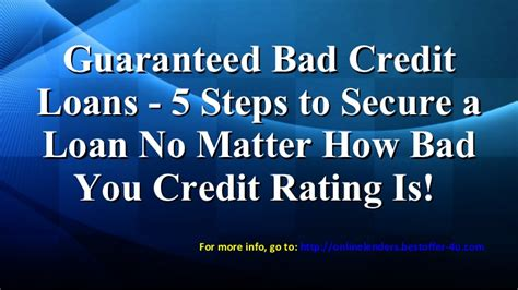 5 steps to profit through bad credit how one did the unbelieaveable and turned his finances around and you can books lenders for bad credit 5 steps to secure a loan
