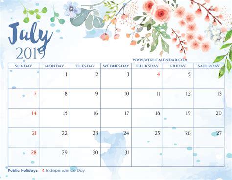 blank july  calendar printable   heart