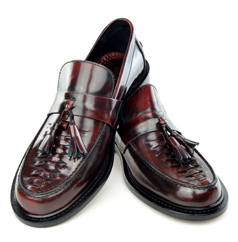 To Be Shoes by Basket Weave Oxblood Tassel Loafers The Allnighter Mod