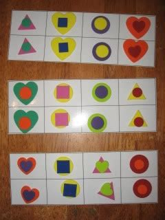 pattern shape game 106 best images about preschool activity bags on pinterest