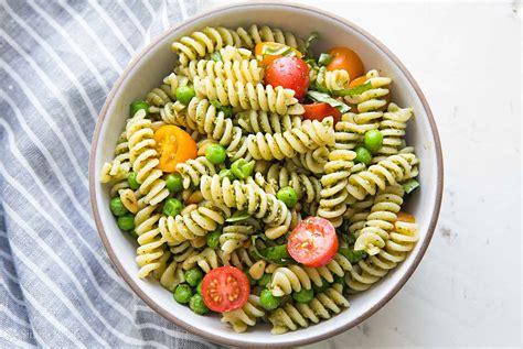 pesto pasta salad recipe pesto pasta salad recipe simplyrecipes com