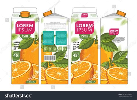 shutterstock design elements and layout vector pack orange juice template packaging design vector stock vector