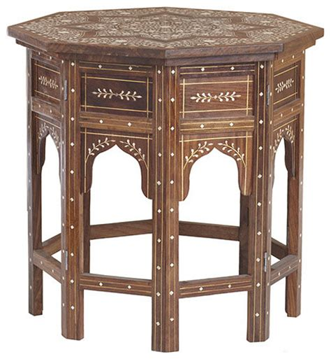 Moroccan Side Table Moroccan Drum Table Eclectic Side Tables And End