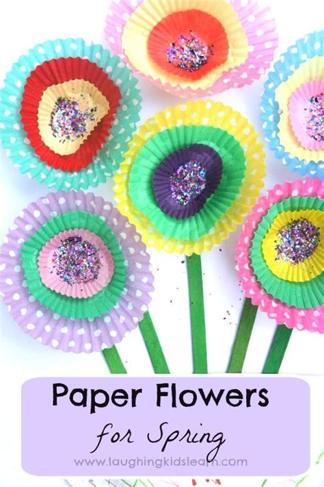 Simple Paper Flowers For Children To Make - cupcake paper flowers for and cupcake liners