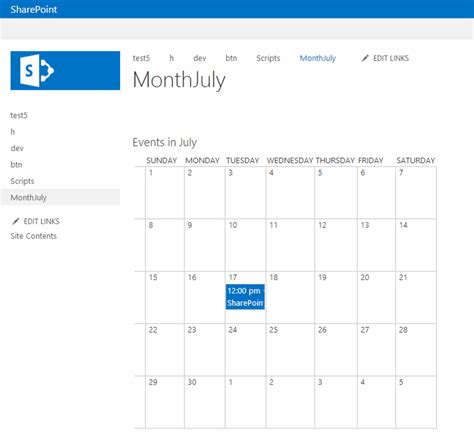 sharepoint calendar web part 187 calendar template 2017