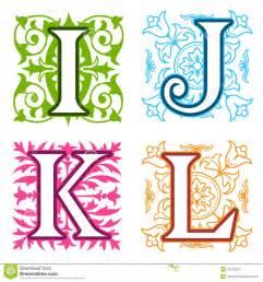 Design Lettre De L Alphabet I J K L Alphabet Marque Avec Des Lettres Les 233 L 233 Ments Floraux