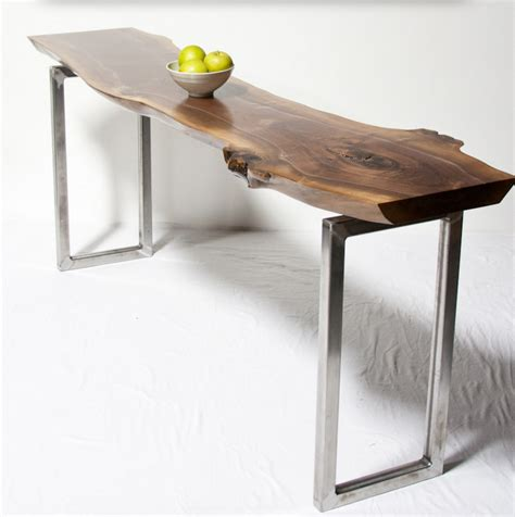 Live Edge Console Table Console Tables Live Edge Wood Console Tables And Furniture Serving The Greater Seattle