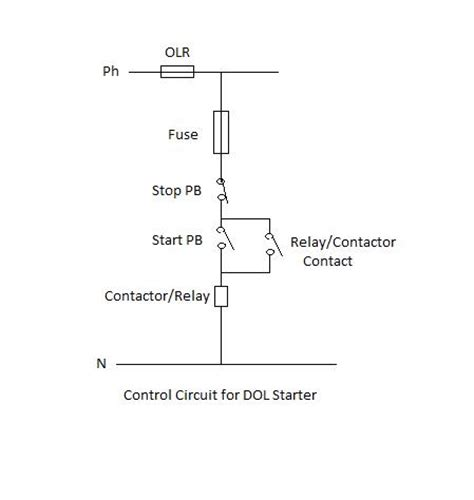 dol starter wiring diagram for single phase motor