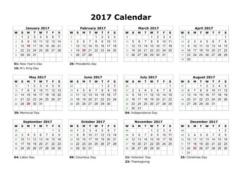 12 Month Calendar 2017 Printable 12 Month Calendar Template 2017 Calendar