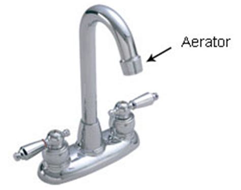 Where Is The Aerator On A Kitchen Faucet water conserving faucet aerator selection information