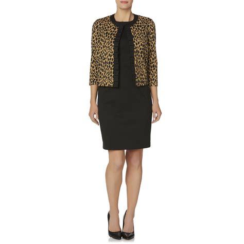 covington s sleeveless dress ruffle jacket