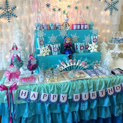 frozen birthday theme decorations frozen table decoration birthday ideas