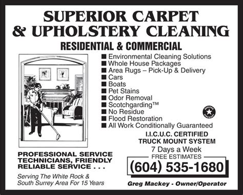 Upholstery Surrey Bc by Superior Carpet Upholstery Cleaning White Rock