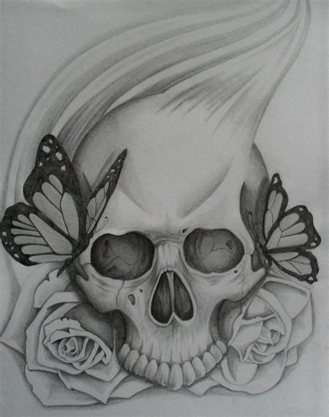 simple skull tattoo simple skull pin easy drawings of roses and