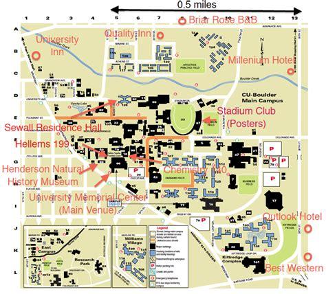 map of of colorado boulder 50th annual conference animal behavior society cu boulder