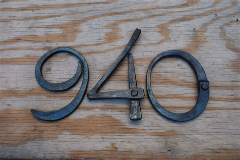 metal house numbers hand crafted hand forged metal house numbers by organic iron concepts custommade com