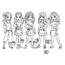 lego girls coloring pages images