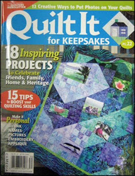 Quilt It For Magazine by Quilt Patterns By Jean Boyd Quilt It For Keepsakes Magazine