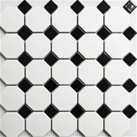 Black And White Ceramic Floor Tile Buy Mosaic Tile Matt Black And White Wall Floor Tiles Puzzle Parquet Bathroom Flooring Ceramic