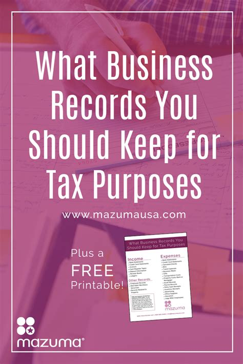 How To Keep Income Tax Records After What Business Records You Should Keep For Tax Purposes Mazuma Business Accounting