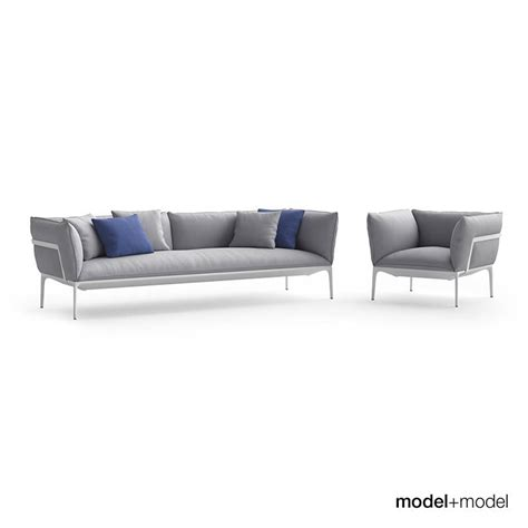 Sofa And Armchair by Mdf Italia Yale Sofa And Armchair 3d Model Max Obj Fbx