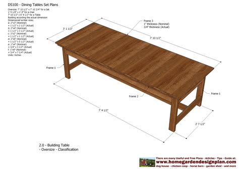 Outdoor Wood Furniture Plans by Home Garden Plans Ds100 Dining Table Set Plans