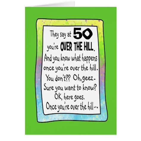 the hill birthday card template 50th birthday the hill card zazzle