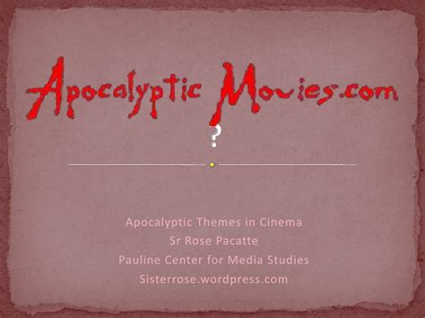themes in apocalyptic literature apocalyptic themes in movies