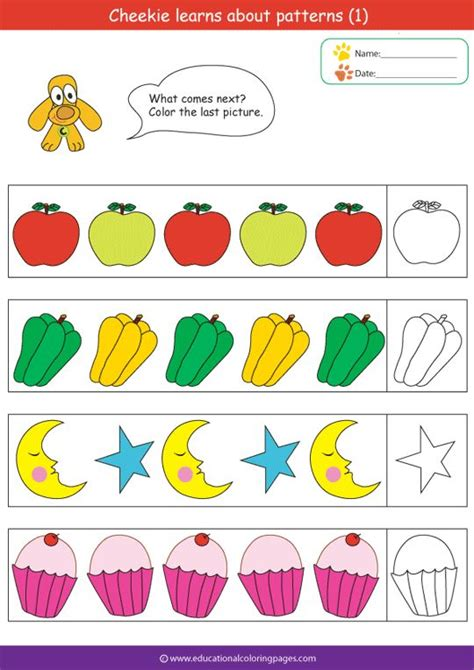 abc pattern for kindergarten printable abc pattern worksheets abc pattern worksheets