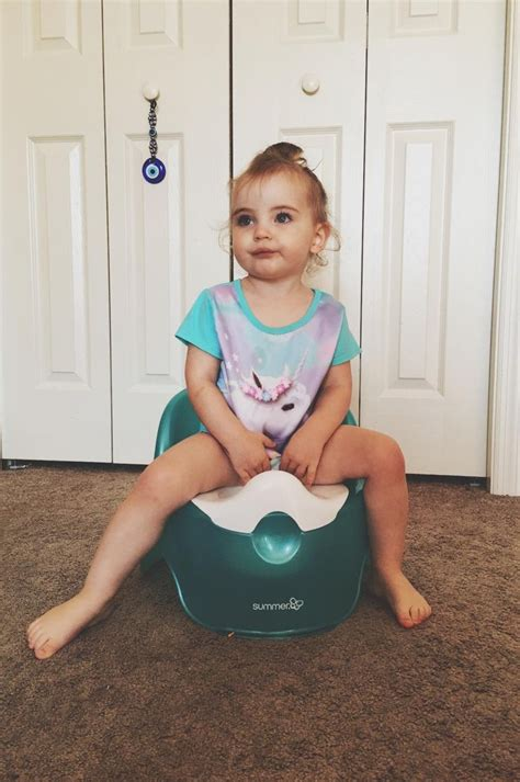 girl on toilet potty training best potty training products parenting autos post