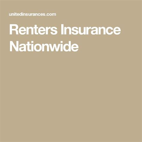 Apartment Insurance Nationwide 17 Best Ideas About Renters Insurance On