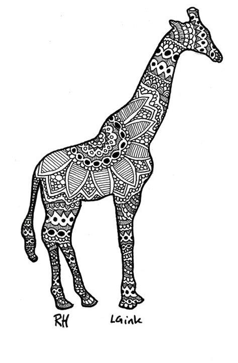 Bedroom Paintings giraffe zentangle motive zentangle motives paintings
