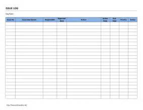 Project Management Issue Log Template by Issue Log Template Playbestonlinegames
