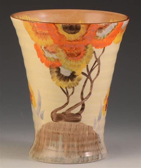 clarice cliff rhodanthe pattern 602 shaped vase c 1934 ebay