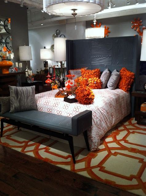 orange and grey bedroom orange and grey trending color scheme orange