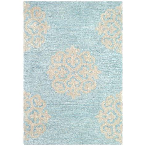Cotton Light Lu Hias Aqua White Yellow safavieh soho turquoise yellow 2 ft x 3 ft area rug soh724a 2 the home depot