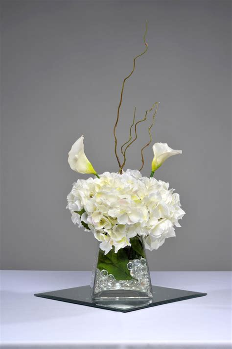 and centerpieces white hydrangea centerpiece coversclassy covers