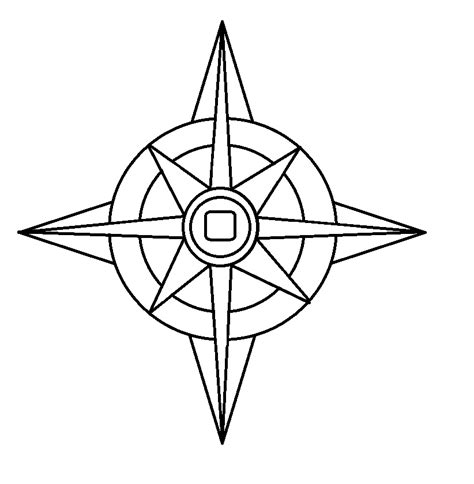 compass rose fill in coloring sheet coloring pages