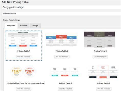 layout trong wordpress hướng dẫn tạo bảng gi 225 pricing tables chuy 234 n nghiệp