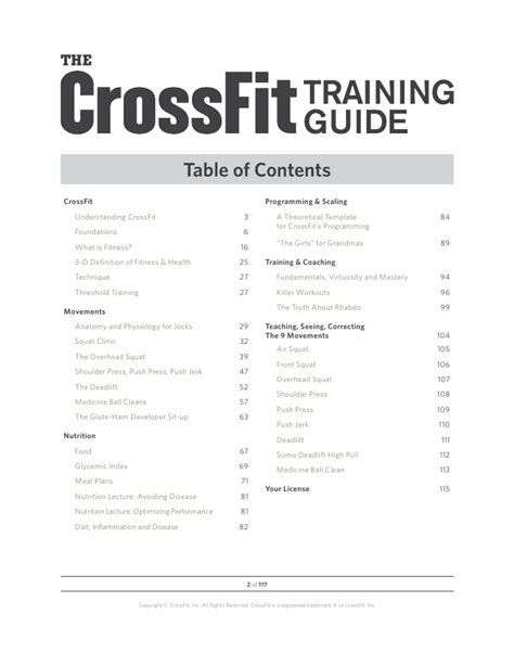 Crossfit Level 1 Guide Crossfit Workout Template