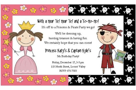 princess and pirate birthday invitations dolanpedia invitations ideas - Free Princess Pirate Invitations