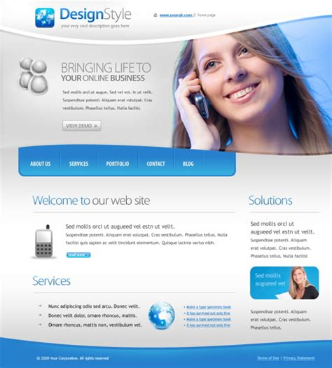 chatting web template 5625 communications website