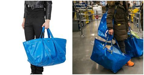 ikea shopping bags balenciaga s arena extra large shopper tote bag looks